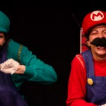 Picola Tushy as Mario and Perse' Fanny as Luigi
