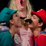 Picola Tushy as Mario and Perse' Fanny as Luigi, Mama Good-n-Plenty as the Princess